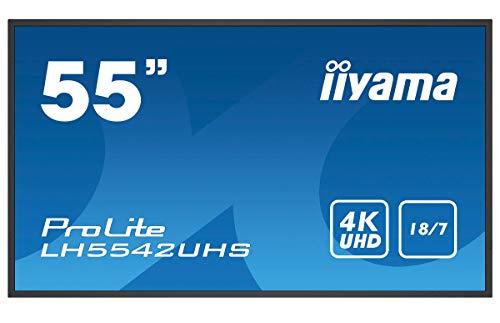iiyama Prolite LH5542UHS B1 1388cm 55 Zoll Digital Signage Display IPS LED 4K UHD Ultra Slim VGA DVI 2xHDMI SDM L 2xUSB RS232 RJ45 IR Android OS schwarz