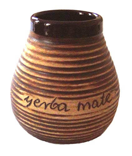 Mein Teeshop Mate Becher Keramik mit Aufschrift Yerba Mate