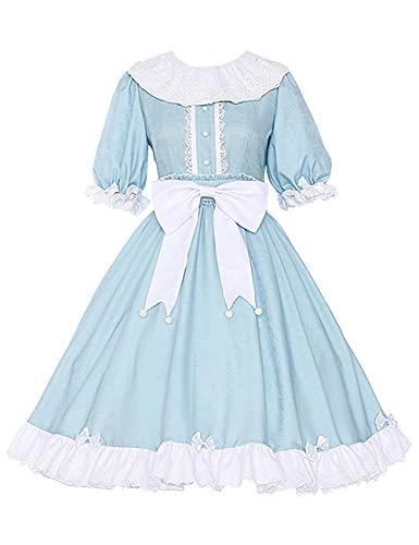 Anime Cells at Work! Disfraz de plaquetas Cosplay Halloween Navidad fiesta disfraz Lolita vestido de criada para mujer conjunto completo-azul_M