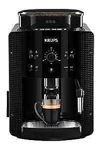 Krups Roma EA81R8 Cafetera súper-automática, 15 bares de presión, molinillo de café cónico de metal, con selección de cantidad e intensidad de café, 1,7 l de depósito, función automática de vapor