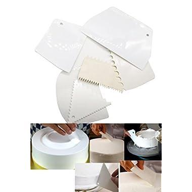 Cake Scraper 6pcs/set, KOOTIPS Smoother Comb Set Cake Edge Side Decorating Tools Scraper
