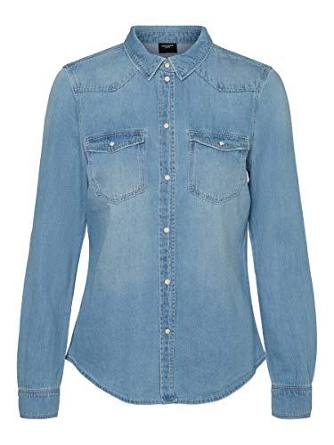 VERO MODA Female Jeanshemd Slim Fit MLight Blue Denim 2