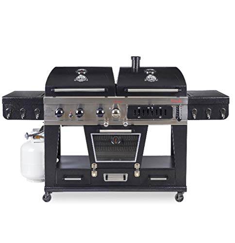 Pit Boss Memphis Ultimate 4-in-1 LP Gas, Charcoal,...