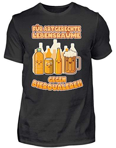 Camiseta para hombre con texto en alemán 'Bierquälerei alcohol' Negro S