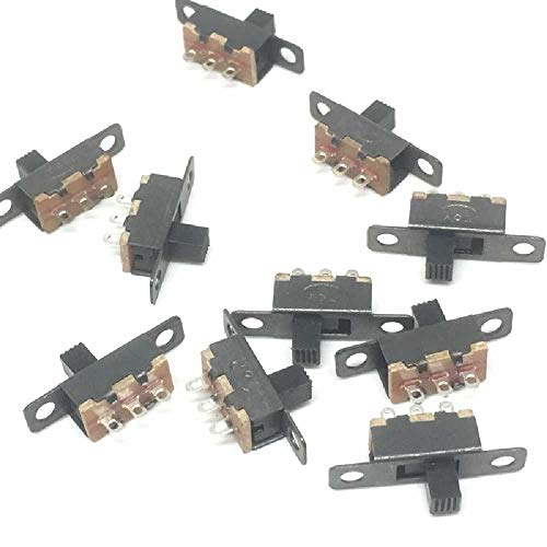 10Stk 3mm Hoher Knopf 2 Position 1P2T SPDT Vertikal Schiebeschalter 0.5A 50V DC
