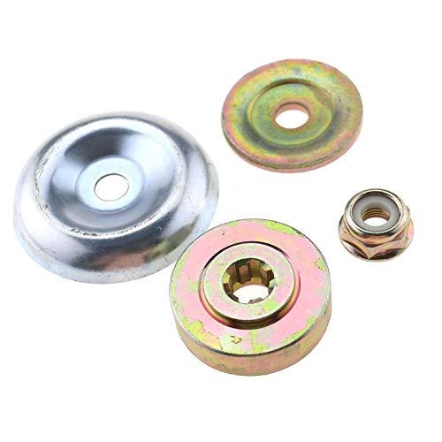 4tlg. Rasenmäher Getriebe Metall Klinge Metallgetriebeklinge mit M10 Mutter Kit für Strimmer Freischneider