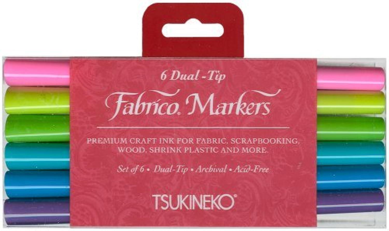 Tsukineko Dual-Ended Fabrico Marker Farbe-Fast, Gemstones, 6-Piece Set by Tsukineko B01IE88WR2     | Angemessene Lieferung und pünktliche Lieferung