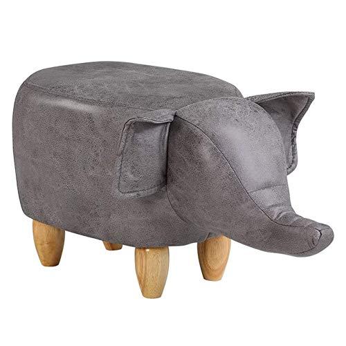 B&H-ERX Poggiapiedi Elefante Poggiapiedi a Forma di Animale Pouf Cuscino Imbottito Poggiapiedi Sgabello Pouf Riposo Seduta Divano Sedia,Grigio