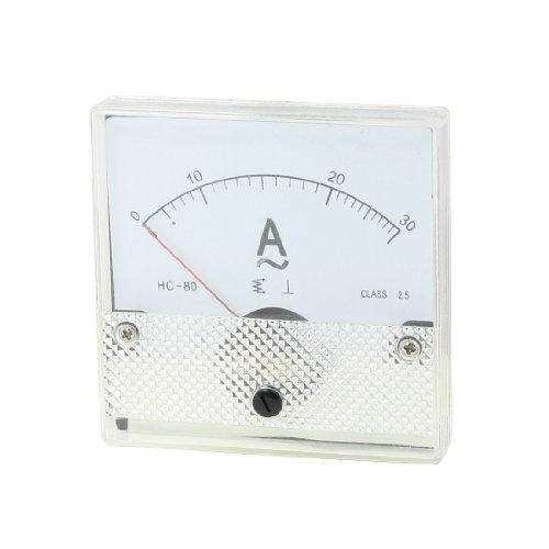 Aexit Klasse 2.5 Feinabgleich-Einstellscheiben-Ampere-Messgerät DH80 AC 0-30A AC 30A (78acc1b0b15406d2f83da79303bb7f7d)