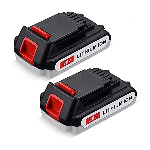 2-Packs 3.0Ah LBXR20 Replacement Battery for Black and Decker 20V Lithium Battery Max LBXR20-OPE LBX20 LBX4020 LB20 LB2X4020-OPE Cordless Power Tools