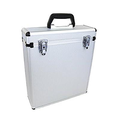 Oypla 35 x 12 LP Vinyl Record Box Hard DJ Flight Case Aluminium
