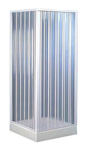 Forte bkp102001 Box douche d'angle 110 – 80 x 110 – 80 réductible, blanc