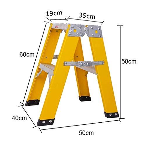 ZAIHW Escalera Plegable de Fibra de Vidrio, de 300 Libras de Capacidad, Tipo A (Size : 2-Step Ladder)