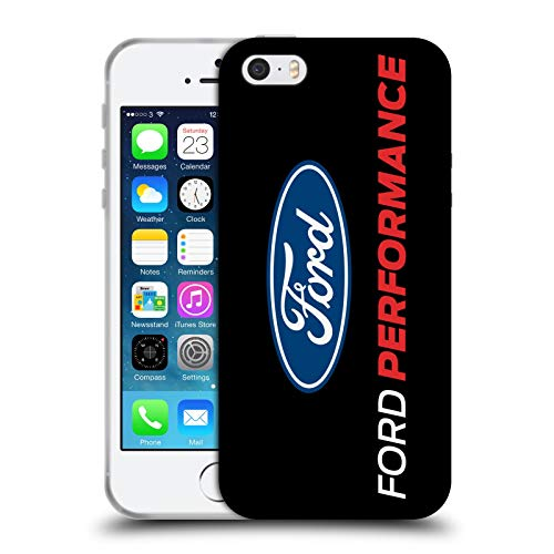 Head Case Designs Ufficiale Ford Motor Company Performance Smisurata Logos Cover in Morbido Gel Compatibile con Apple iPhone 5 / iPhone 5s / iPhone SE 2016