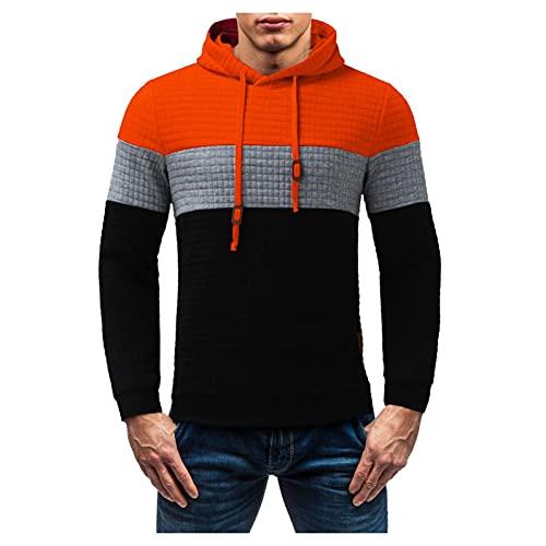 Asija Hoodie Herren Reißverschluss Basic Sweatjacke Pullover Herren Kapuzenjacke Trainingsjacke Sweatshirt mit Kapuze Zip Basic Einfarbig Freizeit Farbblock Sweatshirt
