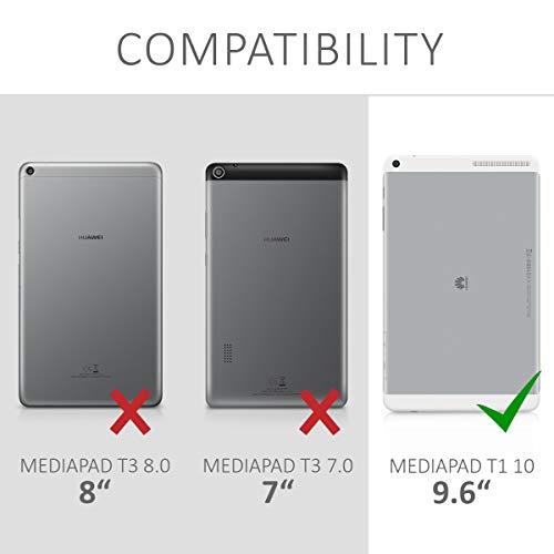 Huawei MediaPad T1 10 Hülle – 360° Tablet Schutzhülle Cover Case für Huawei MediaPad T1 10 – Rosegold - 6