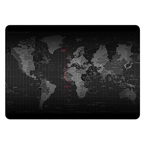 Black World Map Laptop Sticker for Macbook Decal Pro 16' Air Retina 11 12 13 15 inch Mac HP Surface Notebook Full Cover Skin,A side,Touch Bar 15 inch