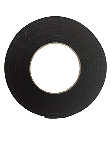 【K-mall】防音 遮音 隙間 テープ パッキン 発砲ゴム【粘着つき】1巻 厚さ2mm 幅1cm 長さ6メートル (2)