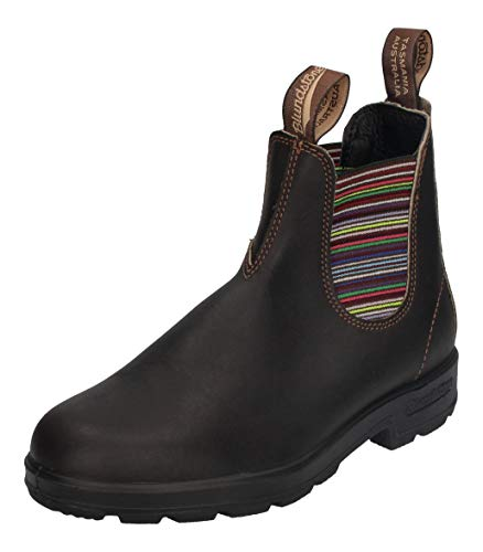 BLUNDSTONE Unisex Original 500 Series Chelsea Boot, Stout Brown/Stripes, 39 EU