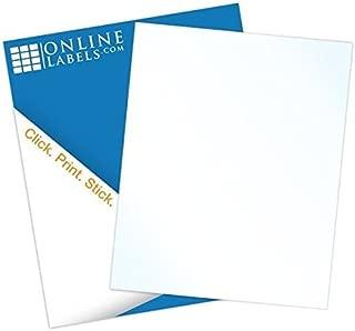 Waterproof Vinyl Sticker Paper - 8.5 x 11 Full Sheet Label - 100 Sheets - Laser Printer - Online Labels