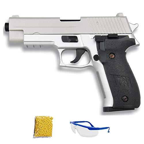 Cyma Pistola Plata Metal.Pistola de Airsoft Calibre 6mm (Arma Aire Suave de Bolas de plástico o PVC). Sistema: Muelle. <3,5J