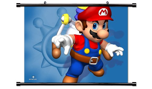 Super Mario Sunshine Game Fabric Wall Scroll Poster (32x24) Inches