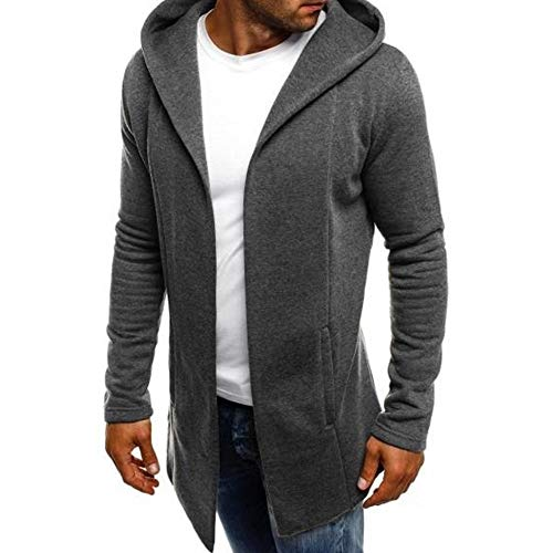 SHANGYI Jas Heren Stitching Effen Trench Jas Vest Lange Mouw Jas Slim Shirt