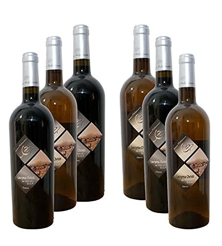 Tre bottiglie rosse di Lacryma Christi e tre bianche di Lacryma Christi D.O.P. del Vesuvio - Cantine Mediterranee