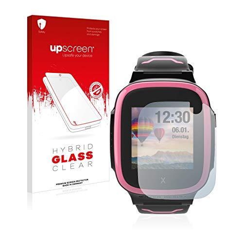 upscreen Hybrid Glass Panzerglas Schutzfolie kompatibel mit Xplora X5 Play 9H Panzerglas-Folie