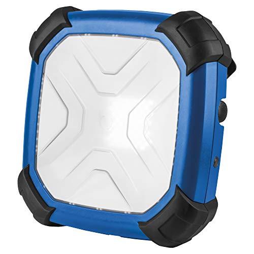 as - Schwabe Crossline werklamp - 80 W professionele bouwlamp spot geschikt als werkplaatsspot - mobiele LED-lamp voor binnen- en buitenverlichting - USB-poort met laadindicator - blauw I 46888, 230 V