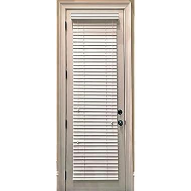 Delta Blinds Supply Custom-Made, Faux Wood Horizontal Window Blinds for Doors, Snow White (Stark White,) 2 Inch Slats, Outside Mount
