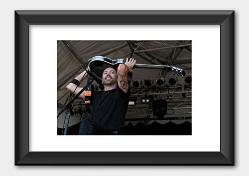 Rise Against - Tim McIlrath Big Day Out Melbourne 2010 Poster 2 Black Frame A3 (29.7x42cm) White