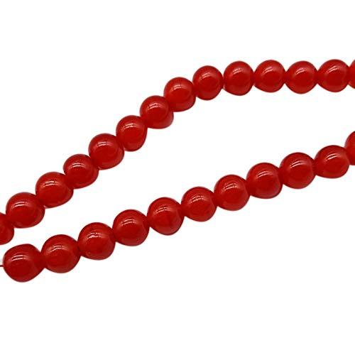 Timagebreze 490Pcs Imitation Agate 6mm Beaded Bracelet Accessories Onyx DIY Crystal Glass Beads Bracelet Beads for Jewelry Making