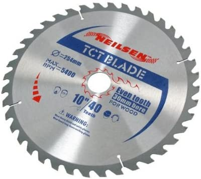 neilsen CT2521 Circular Saw 2 x 60 Blades 40 Animer and price revision Teeth Super Special SALE held 254MM TCT