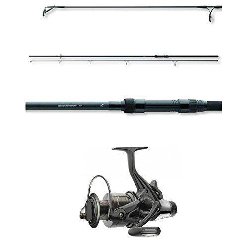 Daiwa Angel-Set Karpfen - Black Widow Carp Karpfenrute 3,60m 3lbs + BW 5000A Freilaufrolle