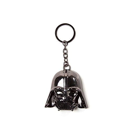 Bioworld Star Wars Darth Vader masker 3D hanger metalen sleutelhanger, een maat, zwart (Ke150701Stw) sleutelhanger, 16 cm, Multi