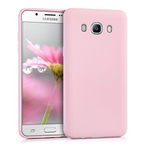 kwmobile Funda Compatible con Samsung Galaxy J5 (2016) DUOS - Carcasa de TPU Silicona - Protector Trasero en Rosa Palo Mate