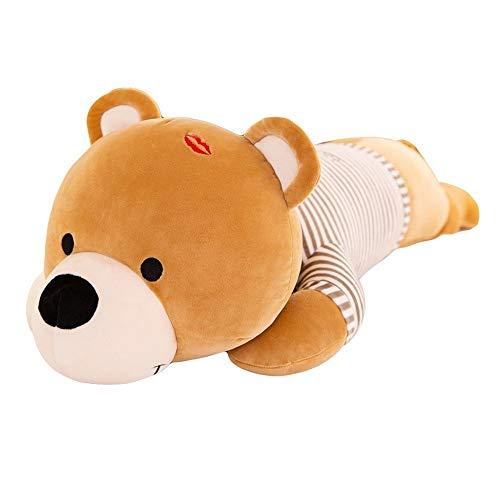 Papa Bear Gezond Gevulde Pluche Toy knuffel beer slapen PP katoenen kussen Rag Doll Best Birthday Christmas Party Gifts for Kids Jongens Meisjes (Size : 100cm)
