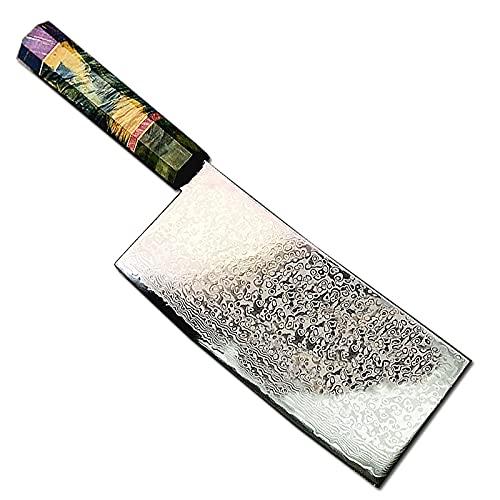 Damasco acero nakiri chef cuchillo chino listo cuchillos afilado rebanado bistec cuchillo cocina cuchillo cocina (Color : A)