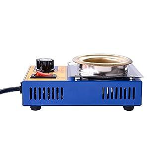 Yescom 500g Capacity 50mm Solder Pot Soldering Desoldering Bath 150W 110V for ESD Welding Rework Station