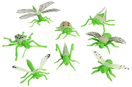 8er Set Insekten aus Plastik ca. 4-8 cm groß