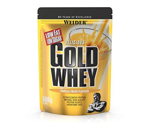 Weider Gold Whey Proteine del Siero di Latte, Sapore Vaniglia - 500 Gr