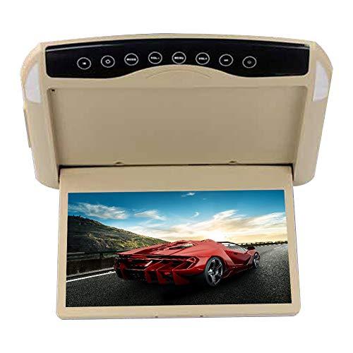 CAPTIANKN Écran de Plafond pour moniteurs de Voiture LCD HD 10,1 Pouces, Tous Les modèles avec Boutons tactiles