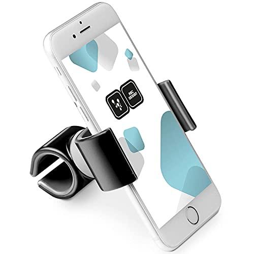 ABC Design Universal Handyhalter für Kinderwagen und Buggys - Smartphone Handy Halterung für Fahrrad und E-Bike - Schwarz Weiß