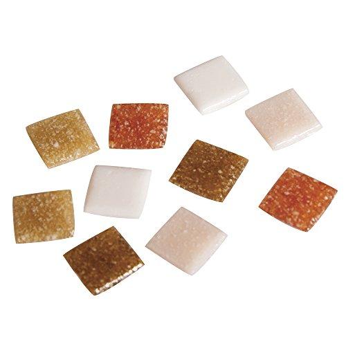 Rayher Piedras de Mosaico, Tonos Naturales, 1x1cm, (aprox. 1300 unidades), cubo 1Kg