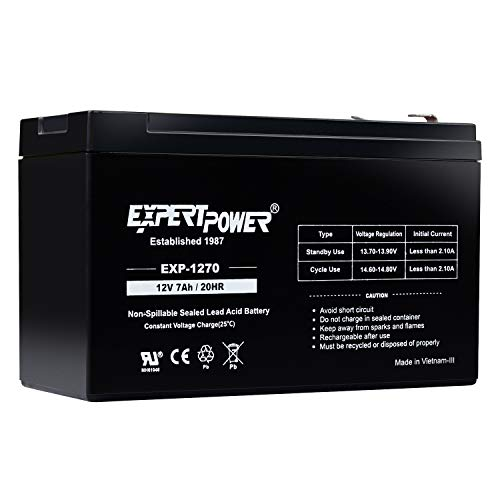 ExpertPower 12v 7ah Rechargeable Sealed Lead Acid Battery