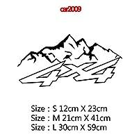 MIYU コンパスと山のアドベンチャーカーステッカーアートパターン装飾カーステッカーアクセサリーラップビニール接着剤ステッカーカーボディ (Color Name : Style9, Size : Size S)