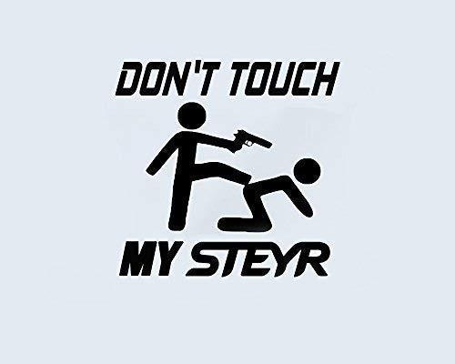 Generic Don't Touch My CLAAS-CASE-New Holland-Steyr-Scania-TREX-DEUTZ FAHR Aufkleber Sticker Folie Tattoo (Steyr schwarz)
