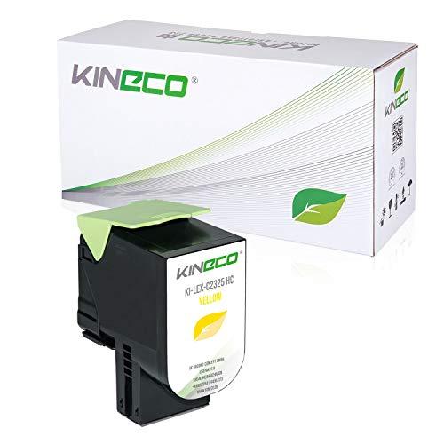 Kineco Toner mit CHIP kompatibel für für Lexmark C2325dw C2425dw C2535dw MC2325adw MC2425adw MC2535adwe MC2640adwe C2320Y0 Yellow