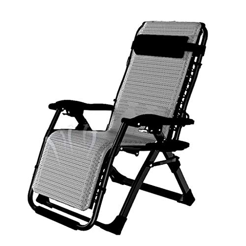 MJ-Brand - Sedia da giardino reclinabile a gravità zero con portabicchieri, extra ampia sedia regolabile per patio, giardino, spiaggia, piscina, con cuscini, 200 kg moderno Marrone